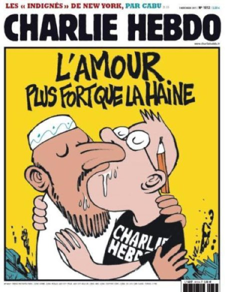 Charlie Hebdo - Love is stronger than hate - small